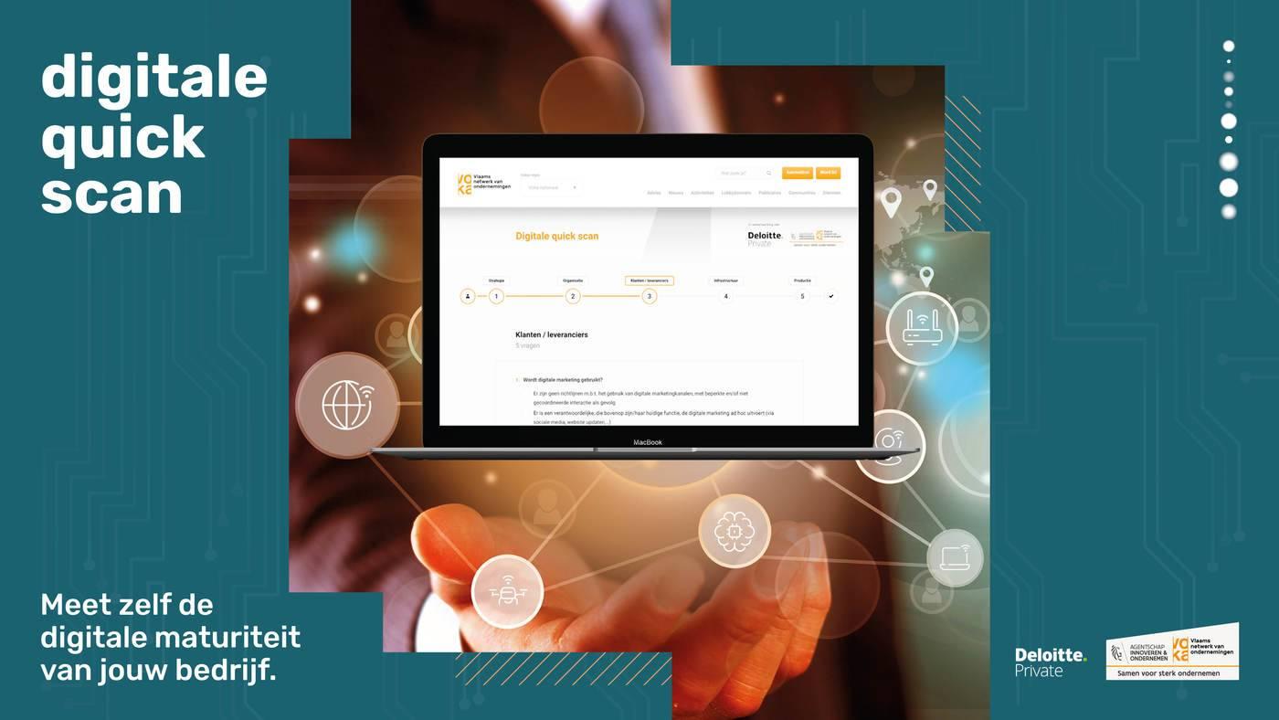 Hoe deze digitale quick scan elke Vlaamse ondernemer wakker schudt voor digitalisering